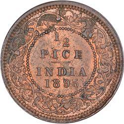 Copper Half Pice Coin of Victoria Empress of Calcutta Mint of 1895.