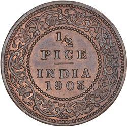Copper Half Pice Coin of King Edward VII of Calcutta Mint of 1903.