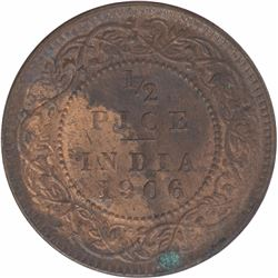 Bronze Half Pice Coin of King Edward VII of 1906.