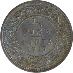 Bronze Half Pice Coin of King George V of 1917.