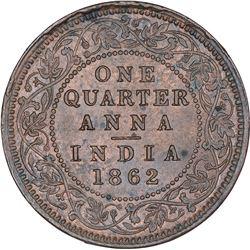 Copper One Quarter Anna Coin of Victoria Queen of Calcutta Mint of 1862.