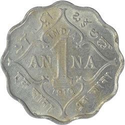 Cupro Nickel One Anna Coin of King Edward VII of Bombay Mint of 1910.