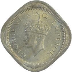 Cupro Nickel Two Annas Coin of King George VI of 1939.