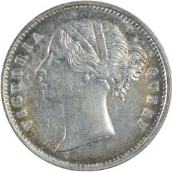 Silver Half Rupee Coin of Victoria Queen of 1840.