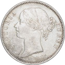 Silver One Rupee Coin of Victoria Queen of 1840.