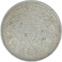 Silver One Rupee Coin of Victoria Queen of 1876.