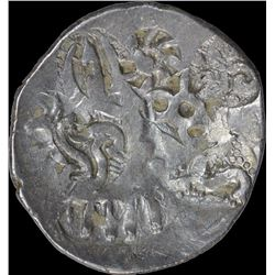 Extremely Rare Punch Marked Silver Karshapana Coin of Kosala Janapada.
