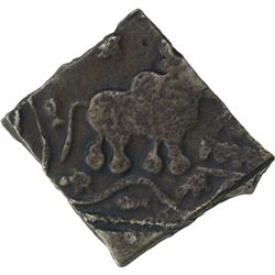Square Copper Alloy Coin of Sebak of Sebakas of Vidarbha.