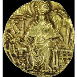 Very Rare Gold Dinar Coin of Kipanada of Kushan Dynasty.