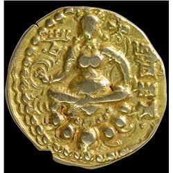 Gold Dinar Coin of Chandragupta II of Archer Type.