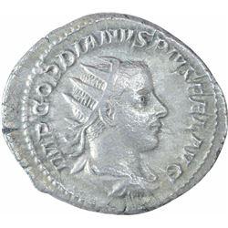 Silver Denarius Coin of Gordian III of Indo Roman.
