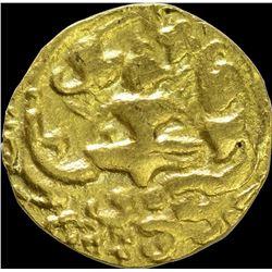 Extremely Rare Gold Pagoda Coin of Chalukya Hindu Medieval of India.