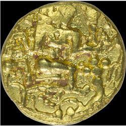 Very Rare Gold Pagoda Coin of Isapura Type with Rama and Seeta.