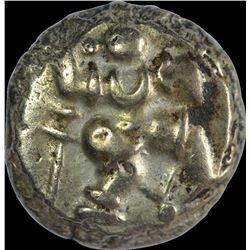 Rare Gold Varaha Coin of Bukkaraya I of Sangama Dynasty of Vijayanagar Empire.