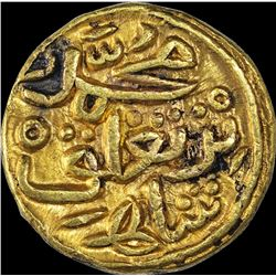 Extremely Rare Gold Half Dinar Coin of Muhammad Bin Tugluq of Delhi Sultanate.