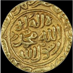 Rare Gold Tanka Coin of Muhammad Bin Tuqhluq of Satgaon Mint of Delhi Sultanate.