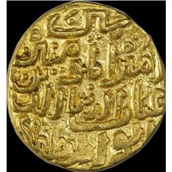 Gold Tanka Coin of Mahmud Bin Muhammad Tughluq of Delhi Sultanate.