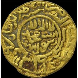 Extremely Rare Gold Dinar Coin of Zain ud Abidin of Kashmir Sultanate.