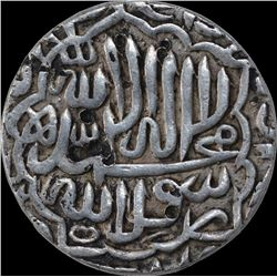 Silver One Rupee Coin of Akbar Jaunpur Mint.