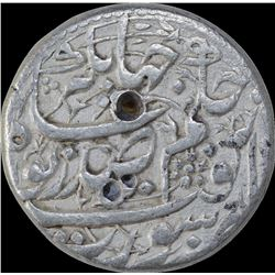 Very Rare Silver One Rupee Coin of Nurjahan of Surat Mint.