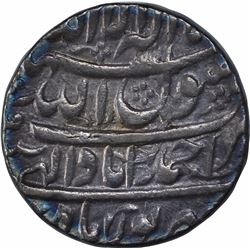 Silver One Rupee Coin of Shah Jahan of Ahmadabad Mint of Shahrewar Month.