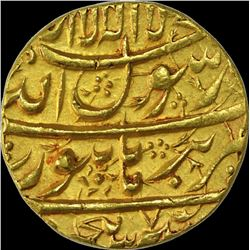 Gold Mohur Coin of Shahjahan of Burhanpur Mint.