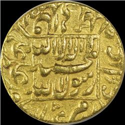 Gold Mohur Coin of Shahjahan of Patna Mint.
