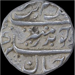 Silver One Rupee Coin of Aurangzeb Alamgir of Chinapattan Mint.