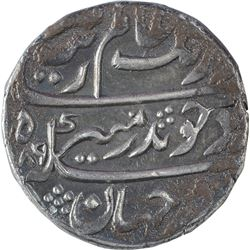 Silver One Rupee Coin of Aurangzeb Alamgir of Surat Mint.