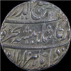 Silver One Rupee Coin of Rafi ud Darjat of Itawa Mint.