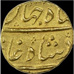 Gold Mohur Coin of Shahjahan II of Surat Mint.