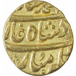 Gold Mohur Coin of Muhammad Shah of Sarhind Mint.