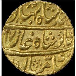 Gold Mohur Coin of Ahmad Shah Bahadur of Shahjahanabad Dar ul Khilafa Mint.