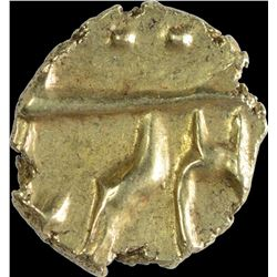 Gold Fanam Coin of Alamgir II of Balapur Mint.