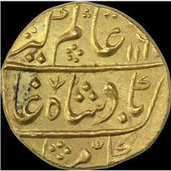 Gold Mohur Coin of Alamgir II of Kora Mint.