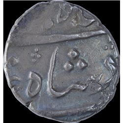 Silver Half Rupee Coin of Shah Jahan III of Surat Mint.