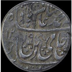 Silver Rupee of Shah Alam II of Saharanpur Dar ul Surur Mint.