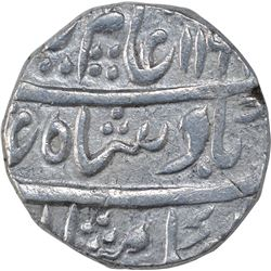 Silver One Rupee Coin of Ajmer Dar Ul Khair Mint of Maratha Confederacy.