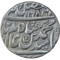 Silver One Rupee Coin of Akbarabad Mustaqir ul Khilafa Mint of Maratha Confederacy.