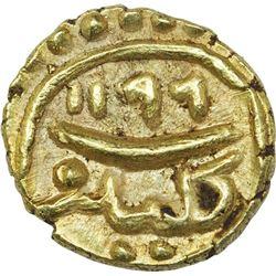 Gold Fanam Coin of Tipu Sultan of Kalikut Mint of Mysore Kingdom.
