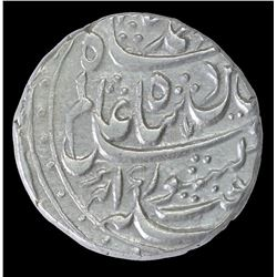 Silver One Rupee Coin of Abdullahnagar Ujhani Mint of Rohilkhand Kingdom.