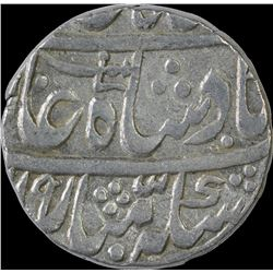 Silver One Rupee Coin of Asafnagar Mint of Awadh State.