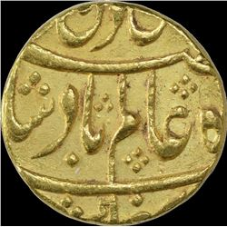 Rare Gold Mohur Coin of Muhammadbad Banaras Mint of Awadh State.