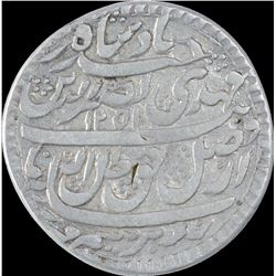 Silver One Rupee Coin of Nasir ud din Haider of Lucknow Mint of Awadh State.