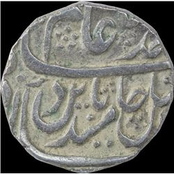 Silver One Rupee Coin of Mahe Indrapur Mint of Bharatpur State.