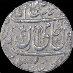 Silver One Rupee Coin of Mominabad Bindraban Mint of Bindraban State.