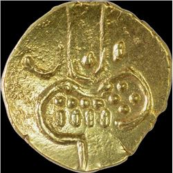 Gold Fanam Coin of Cochin.
