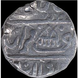 Silver One Rupee Coin of Kirat Singh of Gohad Mint of Dholpur State.