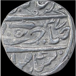 Silver One Rupee Coin of Daulat Rao of Isagarh Mint of Gwalior State.