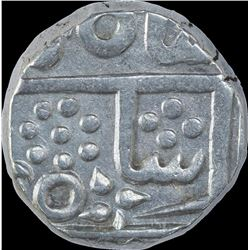 Silver One Rupee Coin of Jayaji Rao of Gwalior State.